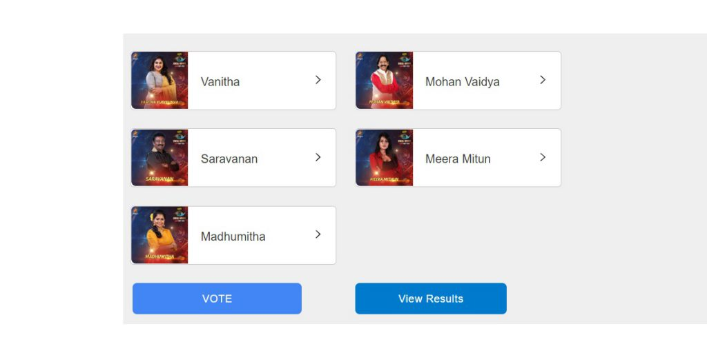 bigg boss tamil vote season 3