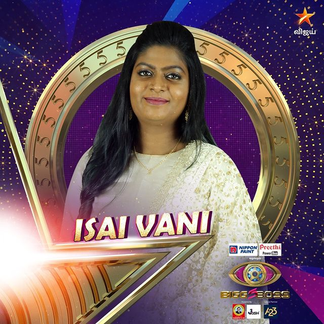 Isai Vani Bigg Boss Tamil 5 Contestant