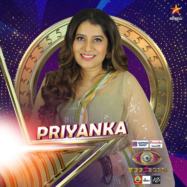 Priyanka Bigg Boss Contestant Tamil 5